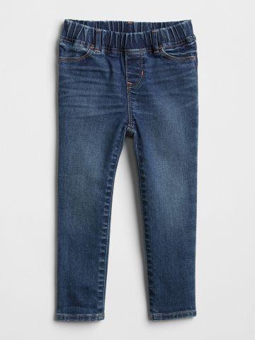 ג'ינס סטרץ' בשטיפה כהה / בנות