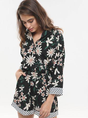 מכנסיים קצרים בהדפס פרחים