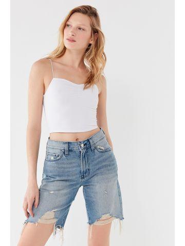 ג'ינס בויפרנד ברמודה בשטיפה בהירה BDG