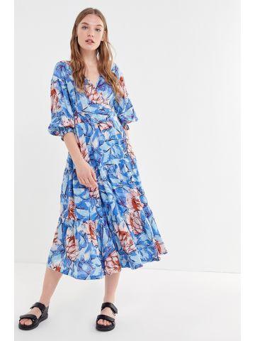 שמלת מידי מעטפת בהדפס פרחים UO
