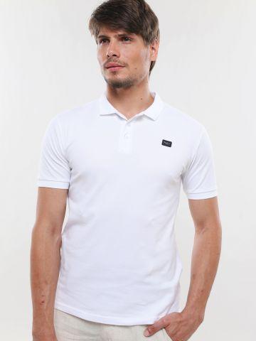 חולצת פולו עם פאץ' לוגו