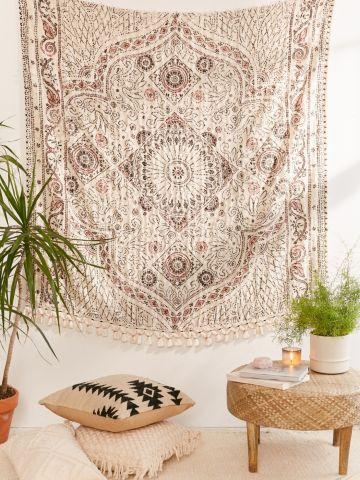 שטיח קיר בהדפס צורות גיאומטריות UO