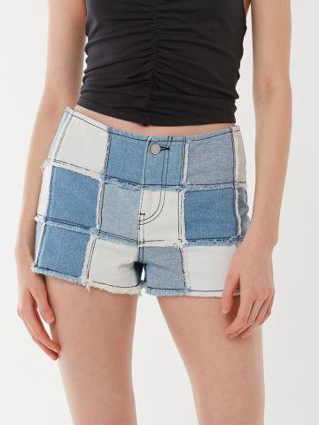 ג'ינס קצר עם פאצ'ים BDG